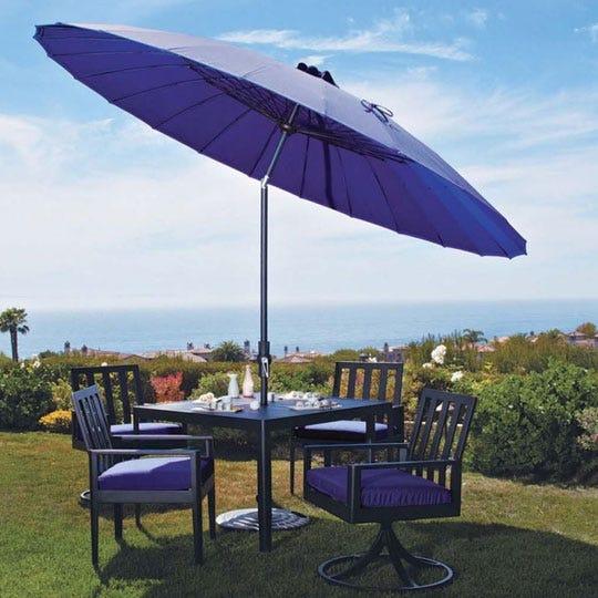 Purple patio umbrella