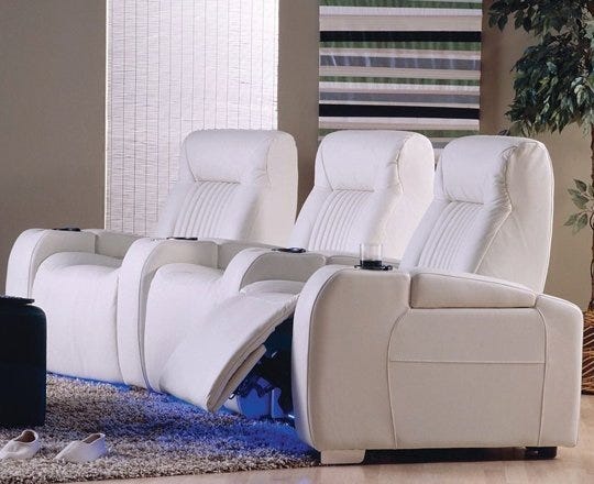 White home theater set