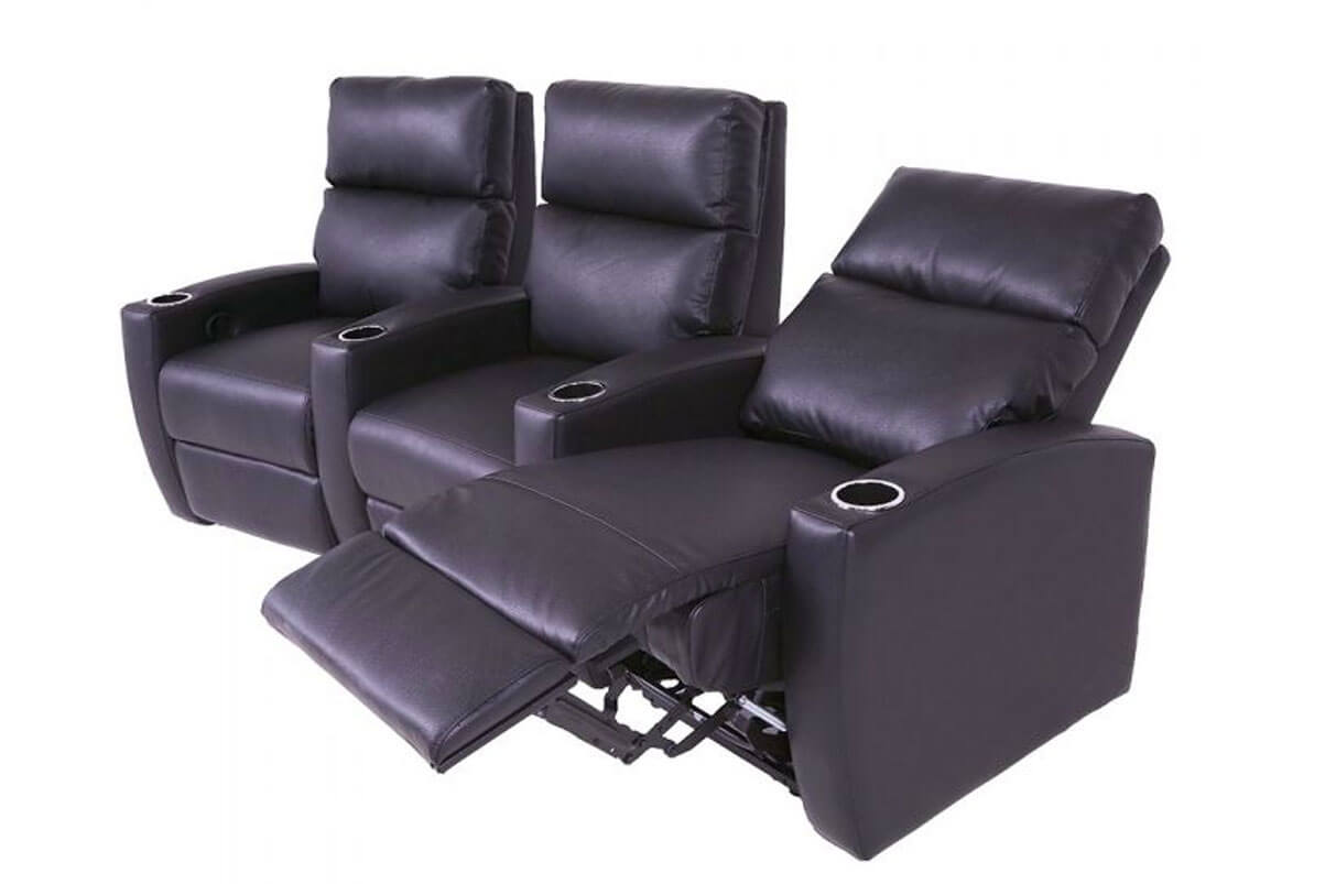 Milan 3-Seat Home Theater Group